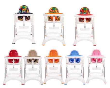 [開箱]myheart折疊式兒童安全餐椅,顏色超繽紛、寶寶吃飯好幫手。